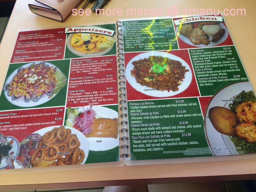 Online Menu Of Machu Picchu Restaurant Restaurant Tampa Florida - Machu picchu tampa