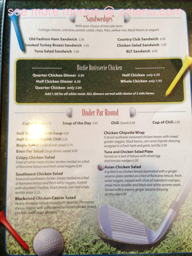 Online Menu Of Mulligan S 19th Hole Restaurant