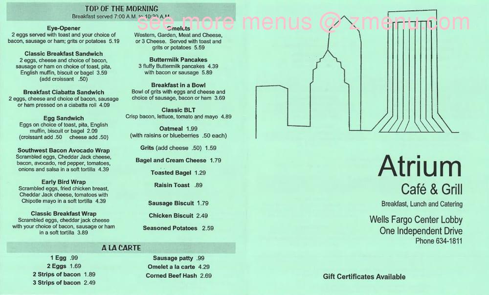 Atrium Cafe Jacksonville Fl Restaurant