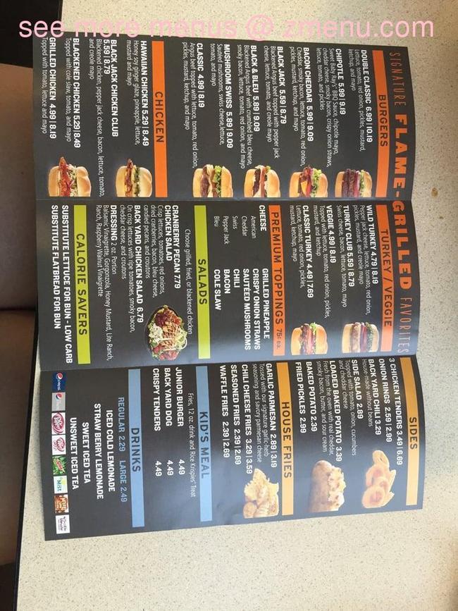 Online Menu of Back Yard Burger Restaurant, Destin ...