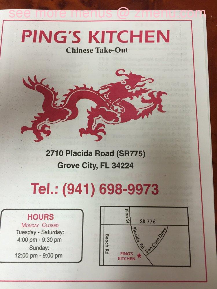 Online Menu of Ping\'s Kitchen Chinese Take-Out Restaurant ...