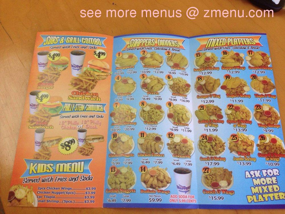 Online menu of snappers on sunrise blvd restaurant fort for Snappers fish chicken
