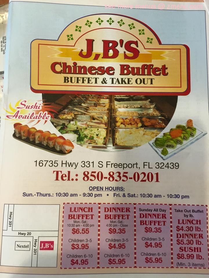 Fine Online Menu Of Jbs Chinese Buffet Restaurant Freeport Home Interior And Landscaping Transignezvosmurscom