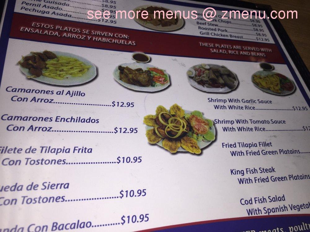 Online menu of kissimmee bakery restaurant latin food for Bar food la menu
