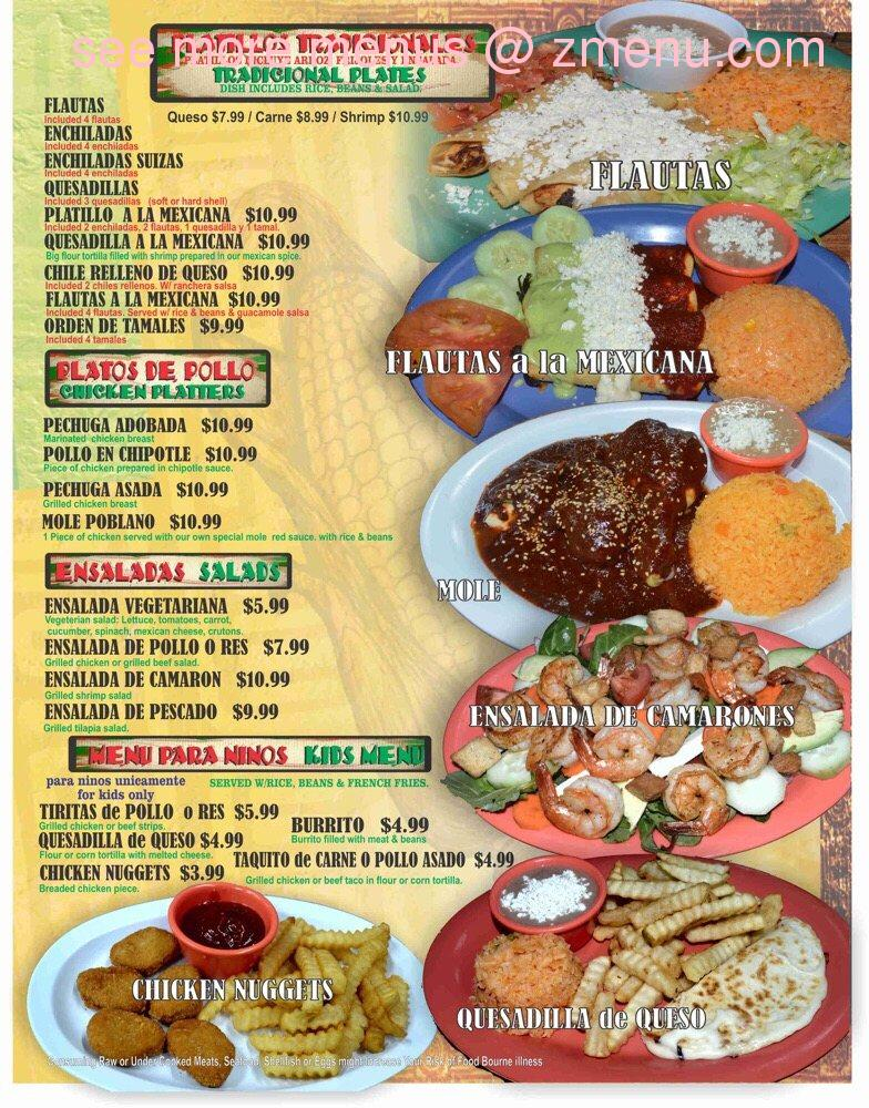 Online Menu of Tortilleria La Mexicana Restaurant, Kissimmee
