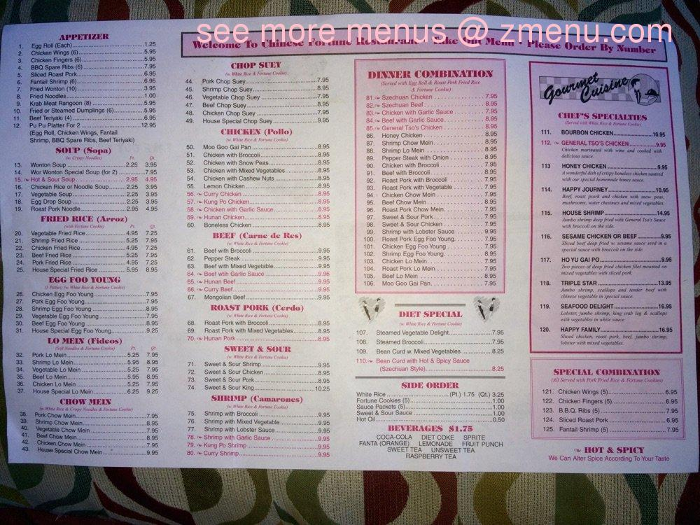 Chinese Kitchen Menu Prices