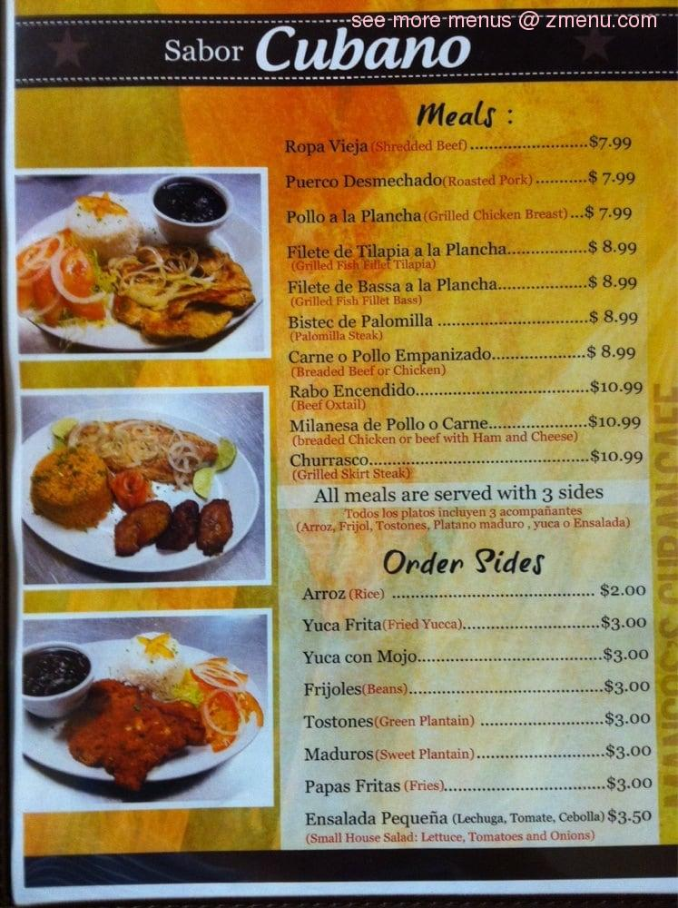 Island Cuban Cafe Naples Fl Menu