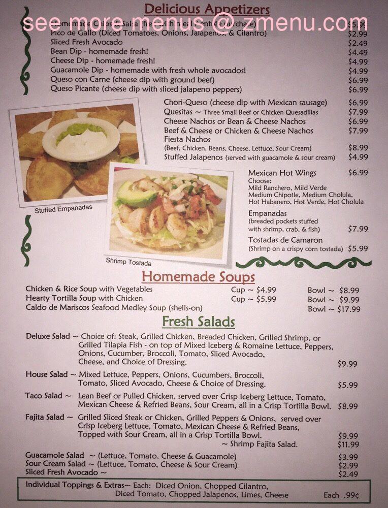Habeneros Mexican Kitchen Menu