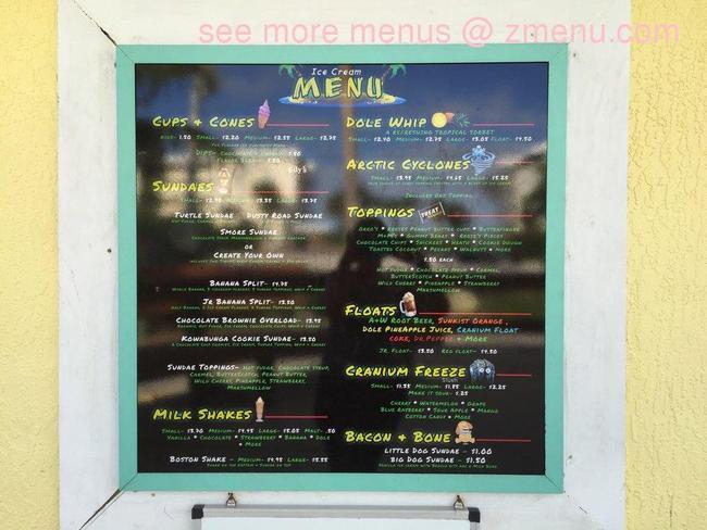 Online Menu Of Surfin Turtle Ice Cream Shoppe Restaurant