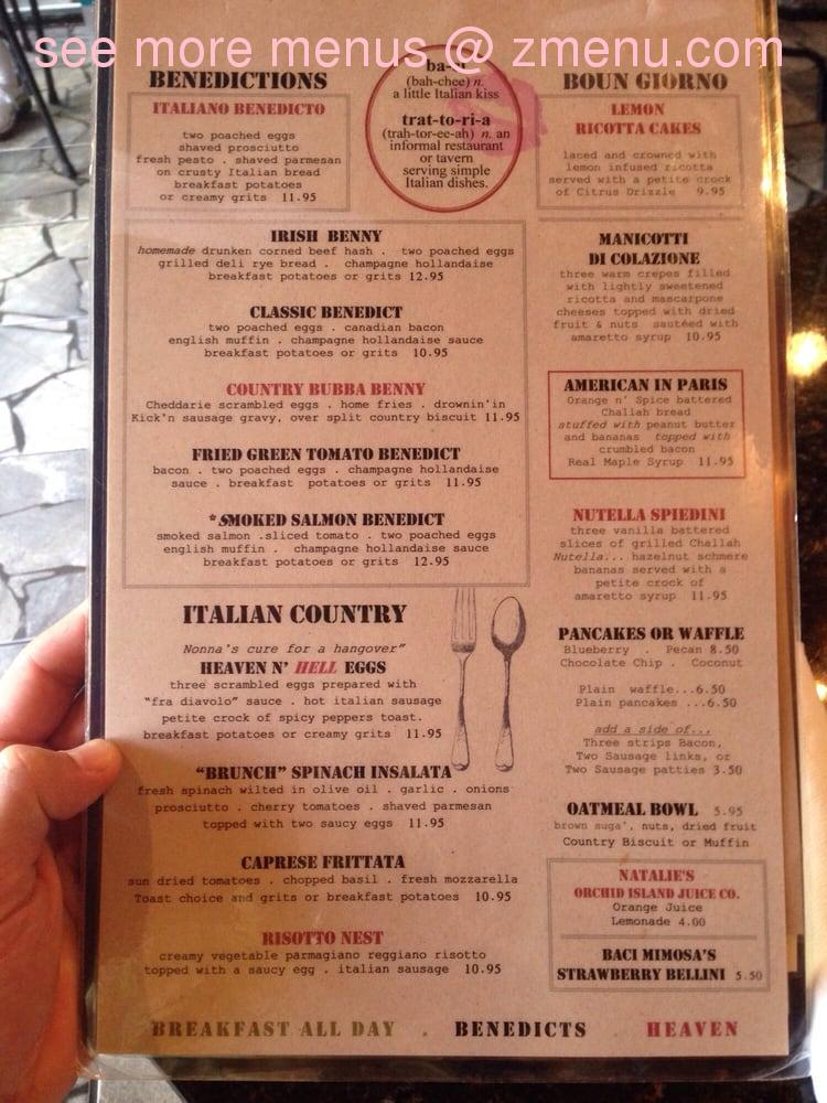 Italian Kitchen Vero Beach Menu