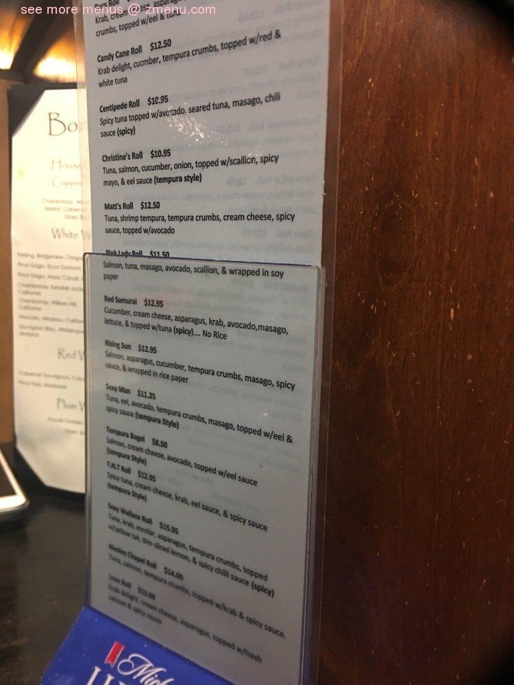 Online Menu Of Bonsai Sushi Restaurant Wesley Chapel Florida 33544 Zmenu