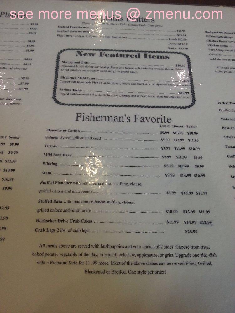 Juniors Restaurant Menu Prices