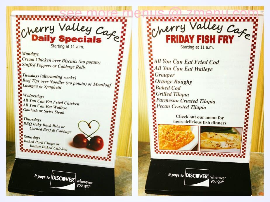Online Menu of Cherry Valley Cafe Restaurant, Cherry ...
