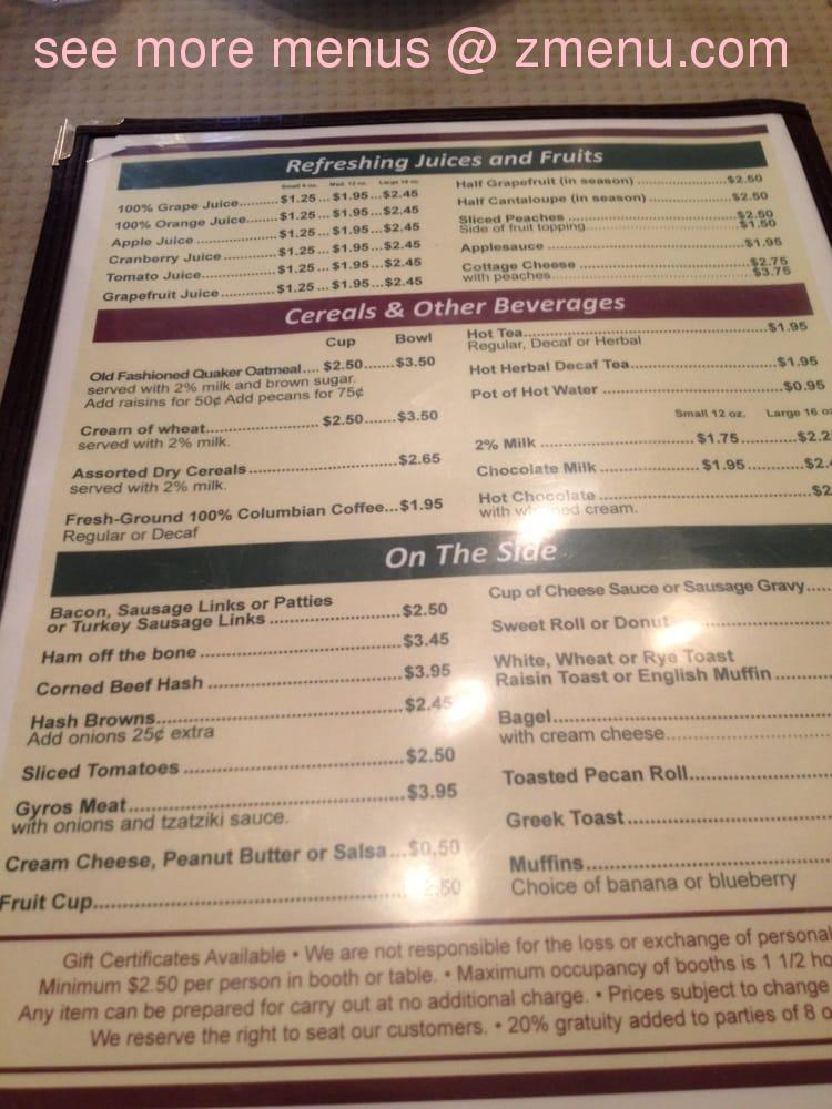 Online Menu Of Andys Family Restaurant Restaurant Crystal Lake