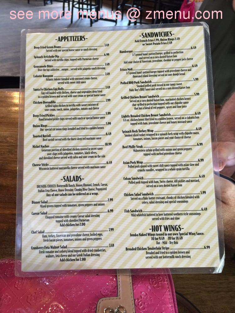 Online Menu Of The Wooden Nickel Pub Grill Restaurant Glen Carbon