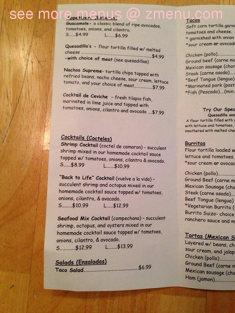 Shooters Grayslake Food Menu