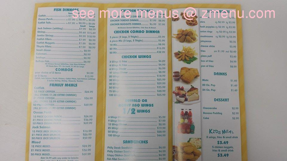 Online menu of sharks fish chicken restaurant lansing for Sharks fish and chicken menu