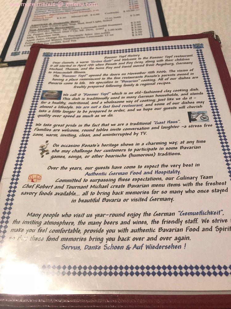 Römers Restaurant Report