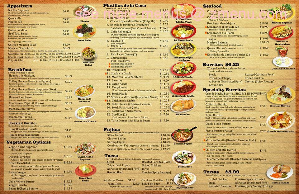 B Restaurant Menu