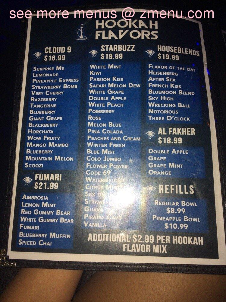 A Bar Restaurant And Lounge Menu Prices