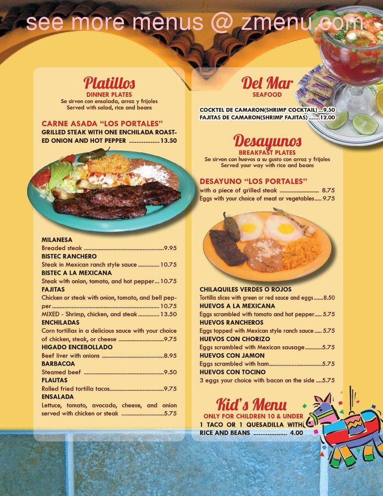 Los Portales Mexican Restaurant Hours