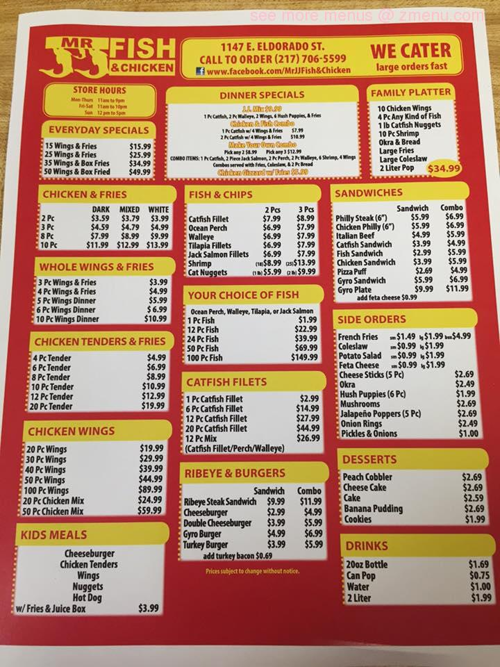 Great Wall Chinese Kitchen Menu Zion Il