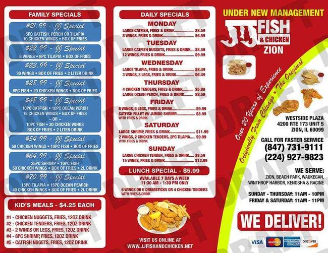Great Wall Chinese Kitchen Menu Zion Il