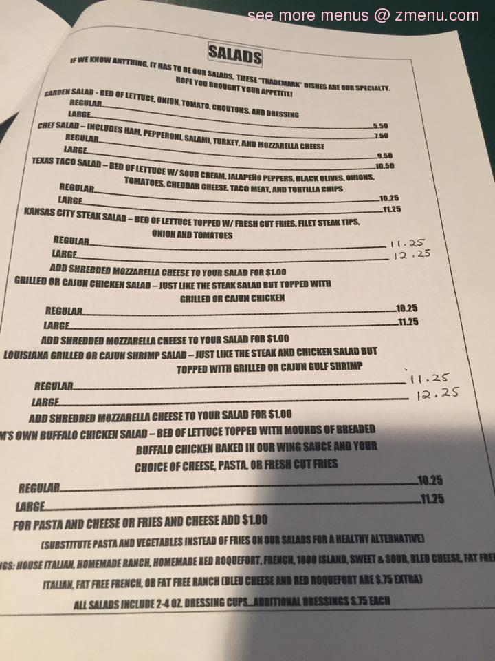 Brothers Pizza Cafe Menu