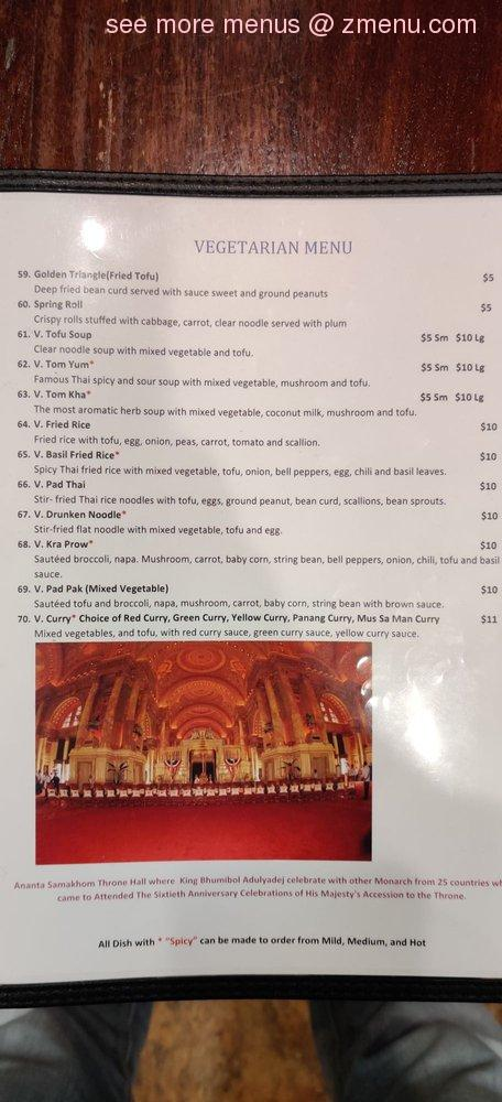 Online Menu Of Thai Kitchen Restaurant Bethlehem Pennsylvania 18015 Zmenu