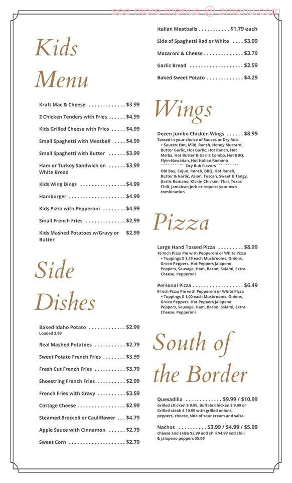 Online Menu Of St Charles Cafe Restaurant Clearfield