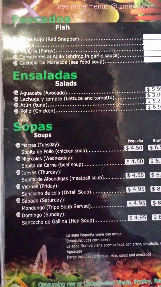 Online Menu Of Las Delicias Restaurant Easton