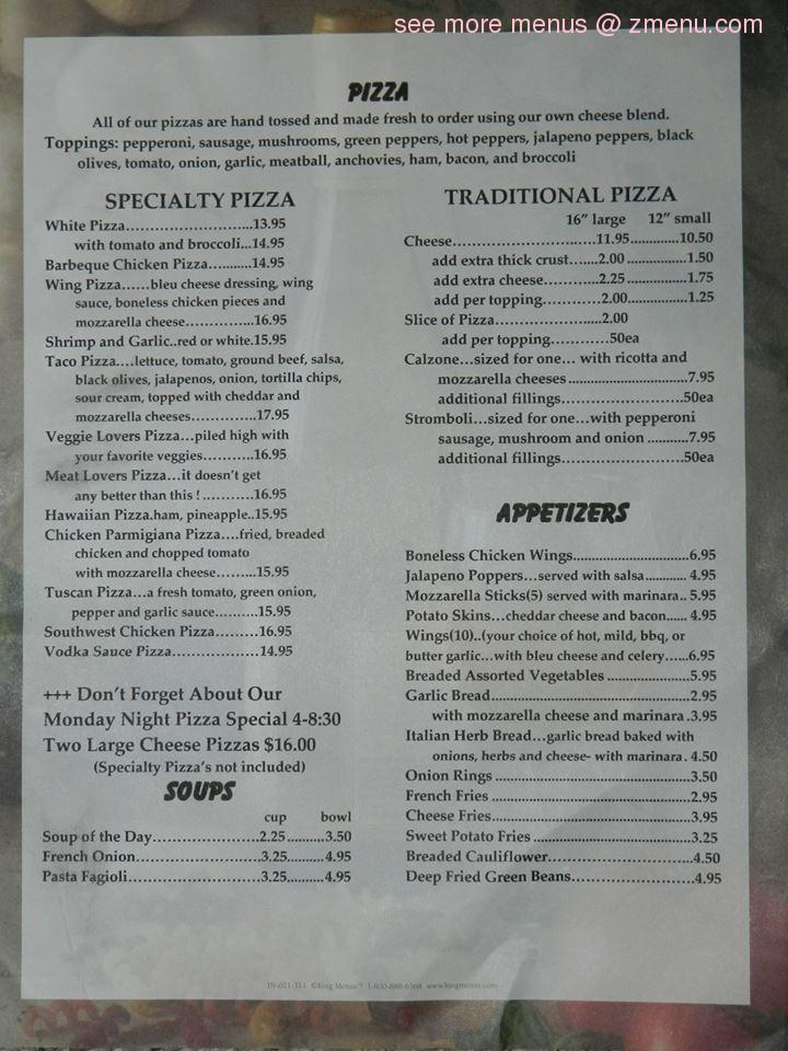 Make any Pizza purchase a MEAL! Add a Crazy Bread Combo and 2-Liter Pepsi for just $! Please note our prices on this menu are subject to change.
