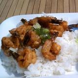 grilled-shrimp-&-chicken-over-steamed-rice