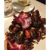 crisp-brussels-sprouts,-coppa,-black-garlic-aioli