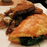 parmesan-crusted-spinach-omelette