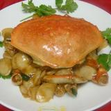 dungeness-crab-w/-rice-cake-in-brown-sauce