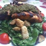 wilted-spinach-salad