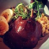 braised-duck-leg,-soba-salad,-spiced-broth,-9-min-egg