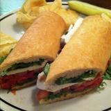 Corner Bakery Cafe Ham Sandwich On Pretzel Bread Whole